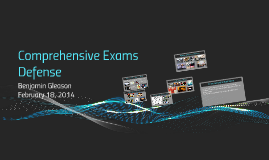 Comprehensive Exams Defense