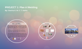 Copy of LWPI PROJECT 1: Plan A Wedding