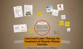 Low-Level Laser Therapy for Treatment of Chronic Plantar Fas