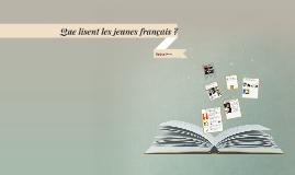 Que lisent les jeunes français ?