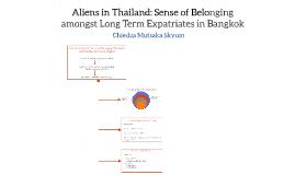 Aliens in Thailand: Sense of Belonging