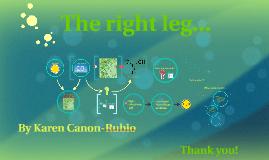 The right leg...