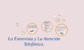La entrevista y La atención Telefónica.
