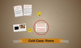 Cold Case: Rome
