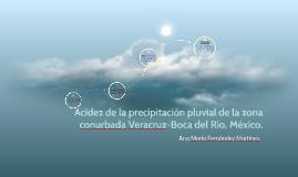 Acidez de la precipitación pluvial de la zona conurbada Vera