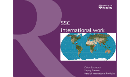 SSC international work