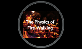 The Physics of Walking on Fire