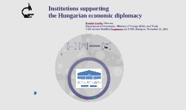 Institutions supporting the Hungarian economic diplomacy