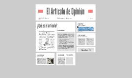 Copy of El Artículo de Opinión