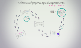 The basics of psychological experiments