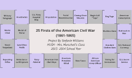 Civil War Firsts