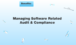 Managing Software Related Audit & Compliance