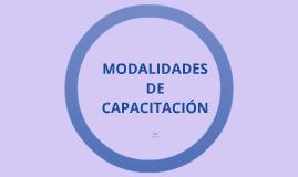 MODALIDADES DE LA CAPACITACIÓN