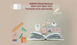 NORMA Oficial Mexicana NOM-009-SSA2-2013, Promoción de la sa