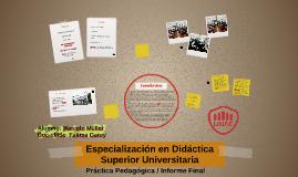 Especialización en Didáctica Superior Universitaria