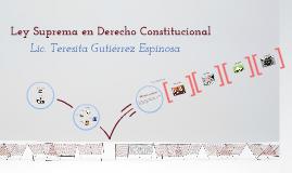 Ley Suprema en Derecho Constitucional