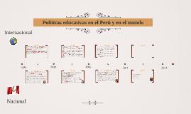 Políticas educativas en el Perú y en el mundo