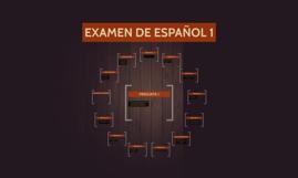 EXAMEN DE ESPAÑOL 1