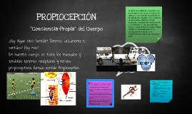Propiocepción - sentidos Propioceptivos