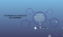 ECONOMIA AL SERVICIO DEL HOMBRE