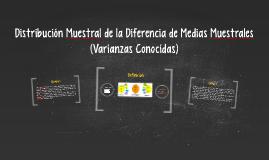 Distribución Muestral de Diferencia de Medias Muestrales