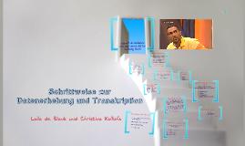 Gesprächsanalyse - Datenerhebung und Transkription