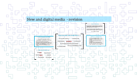 New and digital media  - revision