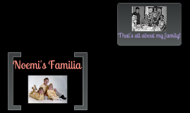 "Spanish ""Familia"" Project"
