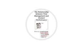 The Relationship between Time Management and Student Perform