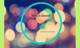 Who is Sicard?