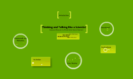 Thinking and Talking Like a Scientist: Inquiry and Discourse in a Middle School Science Classroom