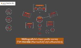 Copy of Bibliografické citace podle normy ČSN ISO 690