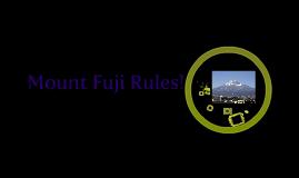 Mount Fuji, Japan. Volcano Project.