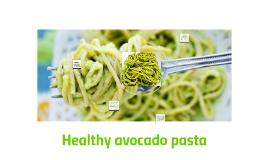 Healthy avocado pasta