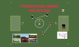 IV CAMPEONATO REGIONAL FEMININO DE SANTA CRUZ DE MINAS