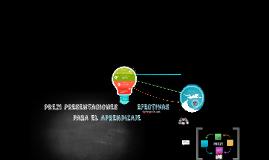 Presentaciones efectivas para el aprendizaje