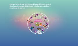 Copy of Contexto curricular del contenido establecido para el diseño