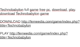 Technobabylon full game free pc, download, play. download Te