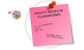 POST-IT NOTES IN CLASSROOMS