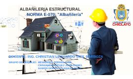 "Copy of NORMA E-070: ""Albañileria"""