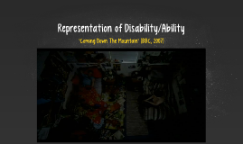 Representation of Disability/Ability