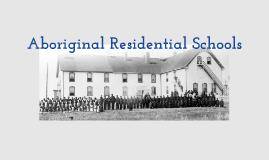 Aboriginal Residential Schools