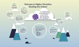Welcome to Higher Elevation