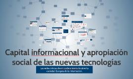Capital informacional y apropiacíon social