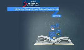 Didáctica General para Educación Primaria