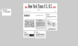 New York Times V.S. U.S.