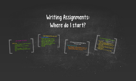 Writing Assignments: