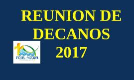 REUION DE  DECANOS