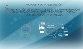 PROPUESTA DE INTERVENCIÓN: