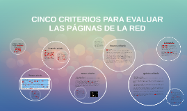 Copy of CINCO CRITERIOS PARA EVALUAR LAS PÁGINAS DE LA RED